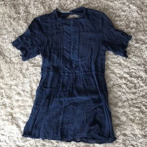 Jens Pirate Booty 100% Cotton Blue Mini Dress